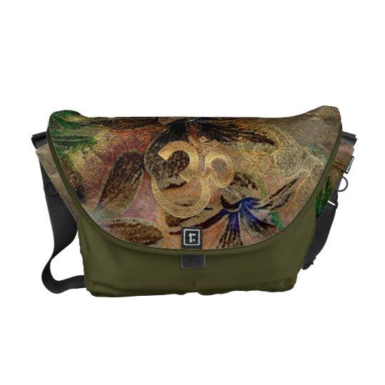 brass gold brown green beige turquois Messenge Bag Courier Bag