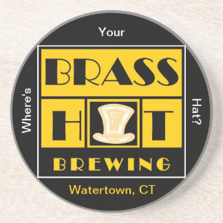 Brass Hat Brewing Sandstone Coaster