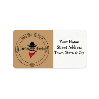 Brass Honcho ADDRESS LABELS SHOUT WHAT YOU SHOOT