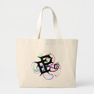 brass knuckle pain large tote bag