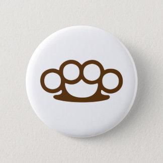 Brass Knuckles 2 Inch Round Button