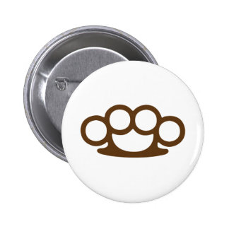Brass Knuckles 2 Inch Round Button