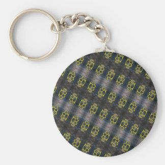 Brass Knuckles Pattern Keychain