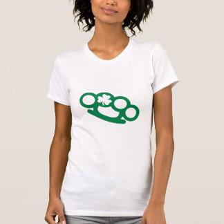 Brass knuckles shamrock irish T-Shirt
