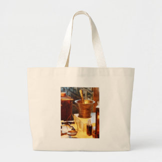 Brass Mortar And Pestle Large Tote Bag