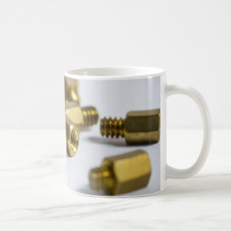 Brass nuts coffee mug