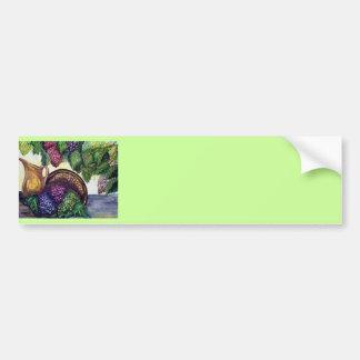 Brass Pitcher & Grapes watercolor art Bumper Sticker