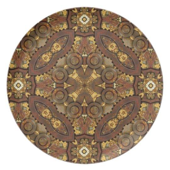 Brass Steampunk Inspired Decorative Plate
