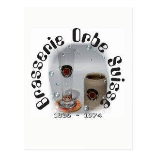 Brasserie Orbe Suisse postcard