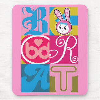 BRAT BUNNY - Blocks Mouse Pad