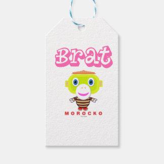 Brat-Cute Monkey-Morocko Gift Tags