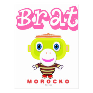 Brat-Cute Monkey-Morocko Postcard