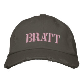 Brat Embroidered Hats