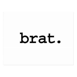 brat. postcard