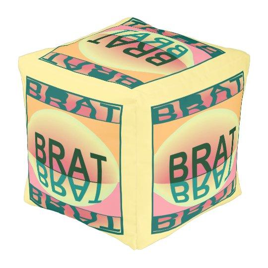 BRAT Pouf- Home-Creme/Green/Teal/Peach/Pink Pouf