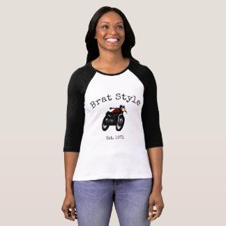 """Brat Style"" women's vintage motorcycle ringer T-Shirt"