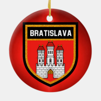Bratislava Flag Ceramic Ornament