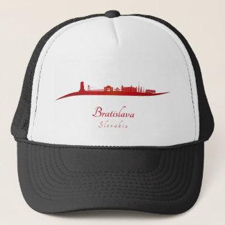 Bratislava skyline in network trucker hat