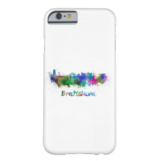 Bratislava skyline in watercolor barely there iPhone 6 case