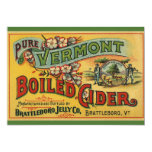 "Brattleboro Jelly Boiled Cider from Vermont 5"" X 7"" Invitation Card"