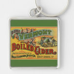 Brattleboro Jelly Boiled Cider from Vermont Silver-Colored Square Keychain