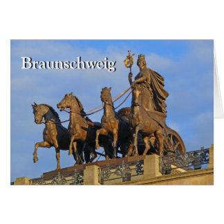 Braunschweig, Quadriga on Brunswick Castle 03 Card