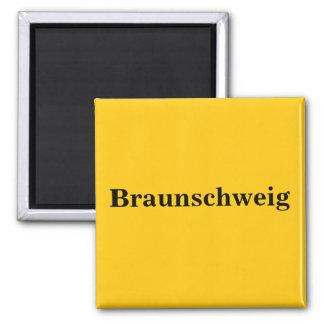 Braunschweig sign gold Gleb Square Magnet