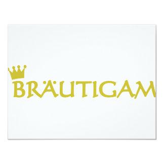"""Bräutigam icon 4.25"""" x 5.5"""" invitation card"""