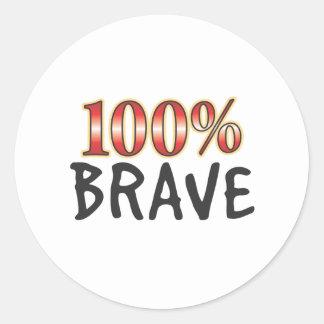 Brave 100 Percent Round Stickers