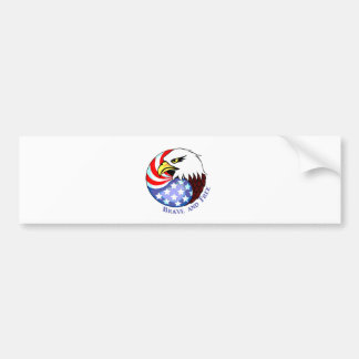 Brave and Free American Eagle Bumper Sticker