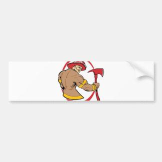 Brave Fireman Bumper Sticker