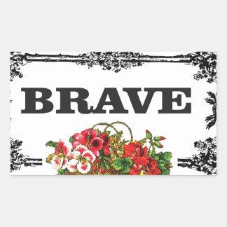 brave flower art