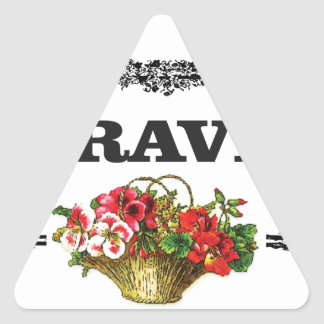 brave flower art triangle sticker