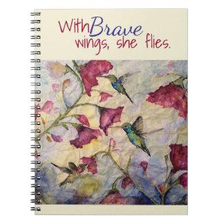 Brave Inspiration Hummingbird Art Notebook-Journal Notebook