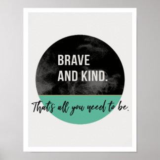 "Brave & Kind 11""x14"" Art Print II"