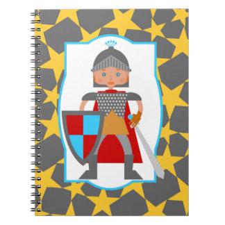 Brave Knight Boy Birthday Party Notebook