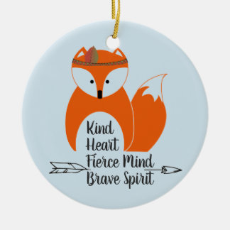 Brave Little Fox Ceramic Ornament