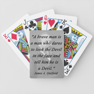 Brave Man - James Garfield Bicycle Playing Cards