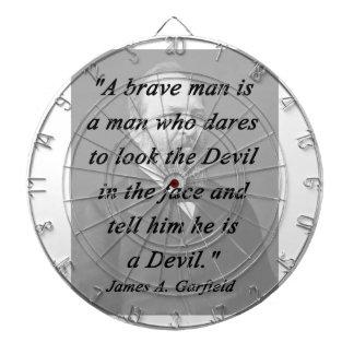 Brave Man - James Garfield Dartboard