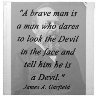 Brave Man - James Garfield Napkin