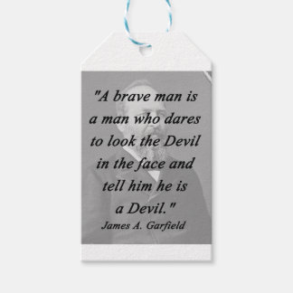 Brave Man - James Garfield Pack Of Gift Tags