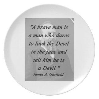 Brave Man - James Garfield Party Plates