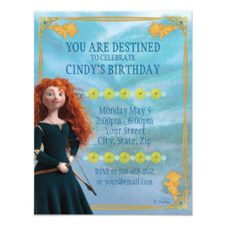 "Brave Merida | Birthday 4.25"" X 5.5"" Invitation Card"