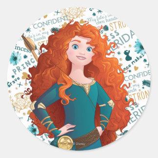 Brave Princess Round Sticker