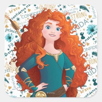 Brave Princess Square Sticker