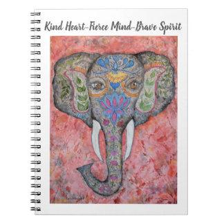 Brave Spirit Elephant Art Spiral Notebook