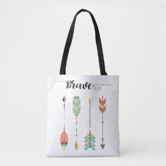 """""""Brave Spirit"""" Text and Boho Arrow Graphic 