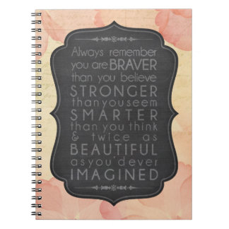 Brave, Strong, Smart and Beautiful Spiral Notebooks