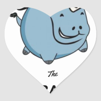 Brave Unicorn Heart Sticker