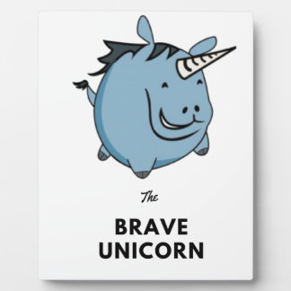Brave Unicorn Plaque